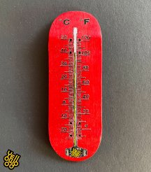 【 Yellowood 】THERMOMETER  Red