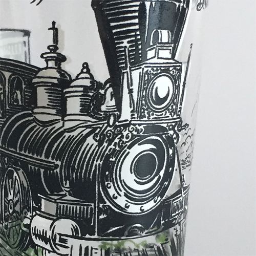 【Vintage】Locomotive glass 機関車 グラス