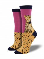 【SOCK SMITH】Cheetah Foot - Boysenberry レディースソックス チーター ベリー<img class='new_mark_img2' src='//img.shop-pro.jp/img/new/icons12.gif' style='border:none;display:inline;margin:0px;padding:0px;width:auto;' />