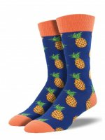 【SOCK SMITH】Many Pineapple メンズソックス パイナップル<img class='new_mark_img2' src='//img.shop-pro.jp/img/new/icons12.gif' style='border:none;display:inline;margin:0px;padding:0px;width:auto;' />