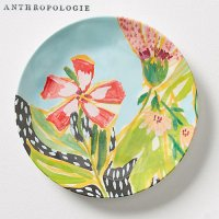 【Anthropologie】Lulie Wallace Melamine Canape Plate ルーリー・ウォレス カナッペプレート ターコイズ