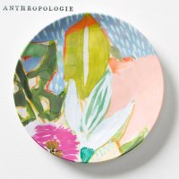 【Anthropologie】Lulie Wallace Melamine Canape Plate ルーリー・ウォレス カナッペプレート シャルトリューズ