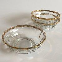 【Vintage】Glass Flower bowl ガラスフラワーボウル 3点セット