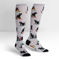 "【Sock it to me】""Booked for Meow""レディースソックス"