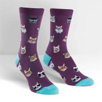 "Sock it to me ""Smarty Cats"" レディスソックス purple"