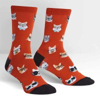"Sock it to me ""Smarty Cats"" レディスソックス rust"