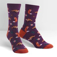 "Sock it to me ""Fox Trot"" レディスソックス purple"