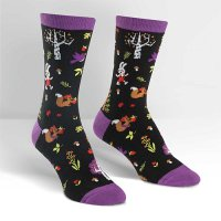 "Sock it to me ""Forest Friends"" レディスソックス purple"