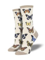 【SOCK SMITH】MAJESTIC BUTTERFLIES IVORY レディースソックス