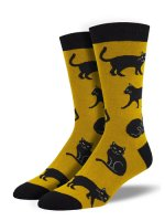 【SOCK SMITH】BLACK CAT メンズソックス<img class='new_mark_img2' src='https://img.shop-pro.jp/img/new/icons12.gif' style='border:none;display:inline;margin:0px;padding:0px;width:auto;' />