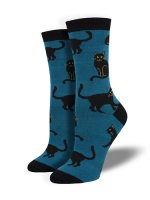 【SOCK SMITH】BLACK CAT BLUE レディースソックス <img class='new_mark_img2' src='https://img.shop-pro.jp/img/new/icons12.gif' style='border:none;display:inline;margin:0px;padding:0px;width:auto;' />