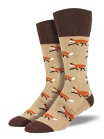 【SOCK SMITH】OUTLANDS FOX BROWN メンズソックス