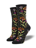 【SOCK SMITH】WILDFLOWERS BLACK レディースソックス