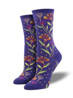 【SOCK SMITH】WILDFLOWERS NAVY レディースソックス
