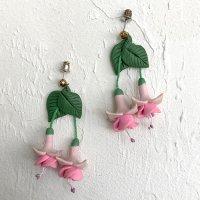 【Vintage】Handmade fuchsia pierce