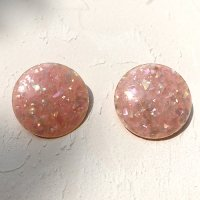 【Vintage】Pink circle Earrings