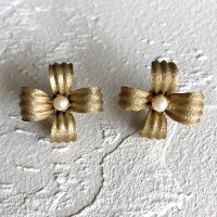 【Vintage】Metal flower Earrings