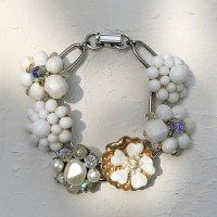 【Vintage】White flower bracelet