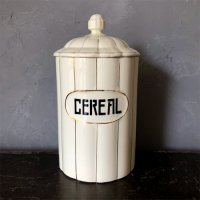 【Vintage】Pottery canister 「CEREAL」
