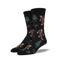 【SOCK SMITH】BIGFOOT BLACK メンズソックス