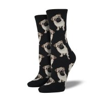 【SOCK SMITH】PUGS BLACK パグ レディースソックス <img class='new_mark_img2' src='https://img.shop-pro.jp/img/new/icons12.gif' style='border:none;display:inline;margin:0px;padding:0px;width:auto;' />