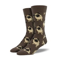 【SOCK SMITH】PUGS BROWN パグ メンズソックス<img class='new_mark_img2' src='https://img.shop-pro.jp/img/new/icons12.gif' style='border:none;display:inline;margin:0px;padding:0px;width:auto;' />
