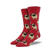 【SOCK SMITH】PUGS RED パグ メンズソックス<img class='new_mark_img2' src='https://img.shop-pro.jp/img/new/icons12.gif' style='border:none;display:inline;margin:0px;padding:0px;width:auto;' />