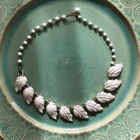 【Vintage】Feather Necklace ビンテージ 羽根モチーフネックレス