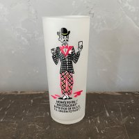 【Vintage】1950's Frost Painted Glass フロストペイントグラス 1