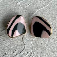 【Vintage】1970's Handmade Porcelain Earrings ハンドメイド 磁器イヤリング 1