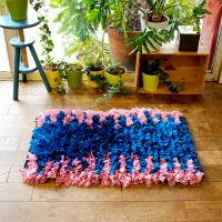 Boucherouite ボシャラウィット  ピンク&ブルー
