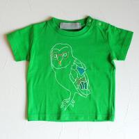 ふくろうTシャツ キッズ:green