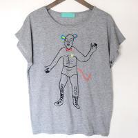 ルチャ ドルマンTシャツ レディス:gray
