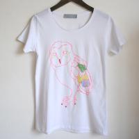 ふくろうTシャツ レディス:white