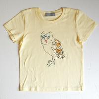 ふくろうTシャツ キッズ:cream