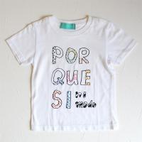 「POR QUE SI」Tシャツ キッズ:white
