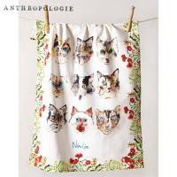 【Anthropologie】Loved & Loyal キッチンタオル cat<img class='new_mark_img2' src='https://img.shop-pro.jp/img/new/icons60.gif' style='border:none;display:inline;margin:0px;padding:0px;width:auto;' />