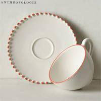 【Anthropologie】 Pearl-Drop Cup & Saucer パールドロップカップ&ソーサー