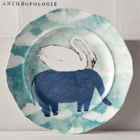 【Anthropologie】Echo Treks Dessert Plate  白鳥と象のデザートプレート