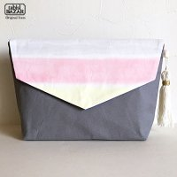 Painted Cluch Bag ハンドペイントクラッチバッグ<thick border02>