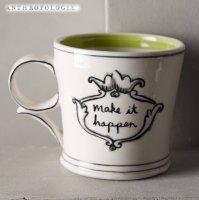 【Anthropologie】Crowned Leaf Mug クラウンリーフマグ グリーン