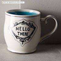 【Anthropologie】Crowned Leaf Mug クラウンリーフマグ ブルー