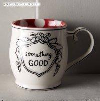 【Anthropologie】Crowned Leaf Mug クラウンリーフマグ レッド