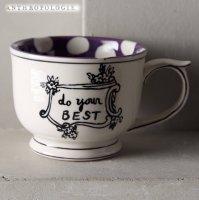 【Anthropologie】Crowned Leaf Mug クラウンリーフマグ パープル