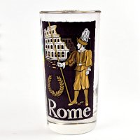 【American Vintage】Cities Glass シティグラス  Rome ローマ from Los Angeles