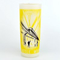 【American Vintage】World's Fair Glass シアトル万博グラス モノレール from Los Angeles