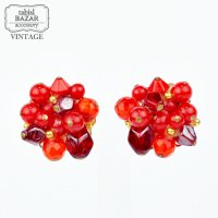 【American Vintage】Earrings ヴィンテージイヤリング red  from Los Angeles