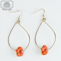【American Vintage】Earrings ヴィンテージピアス Pink Flower  from Los Angeles