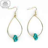 【American Vintage】Earrings ヴィンテージピアス Blue Flower  from Los Angeles