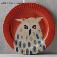 【Anthropologie】The Farm Dessert Plate owl プレート
